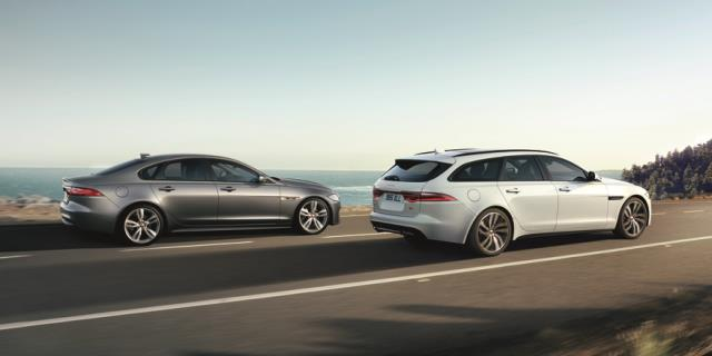 640X320 XF Sedan XF Sportbrake Driving Side View 18MY - Jaguar introduceert de nieuwe XF Sportbrake